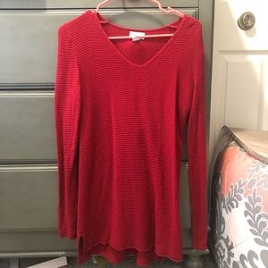 Longer red sweater